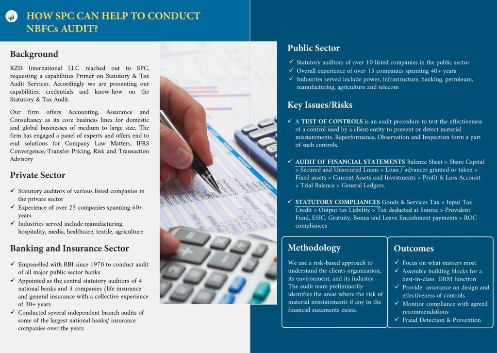 SPC Group has been operationg in India since 1949 and is offering its services in Auditing, Assurance and Consulting